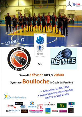 NM3 : derby 77 OVE vs LE MEE